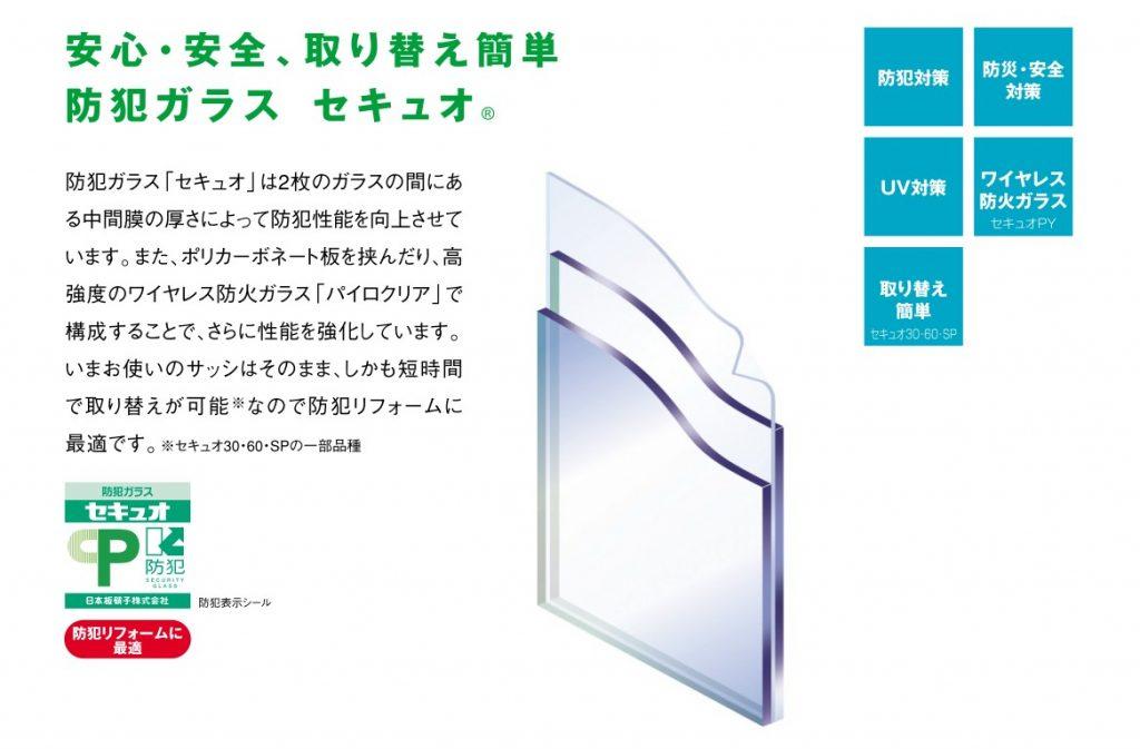 防犯ガラス-セキュオ(断面図)